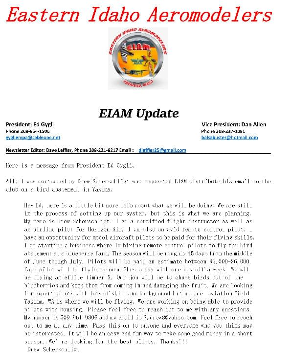 special Update newsletter March 3,2021